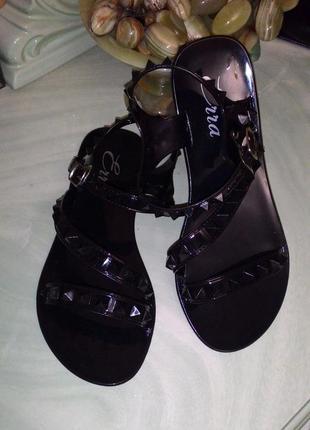 Черные босоножки сандалии резиновые силиконовые 23см