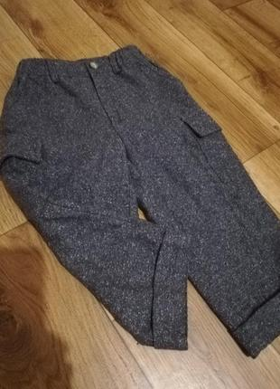 Фирменные моднявые брюки-штаны бойфренды! разм 98/104.