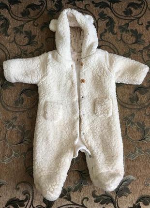 Тёплый человечек zara для новорождённого