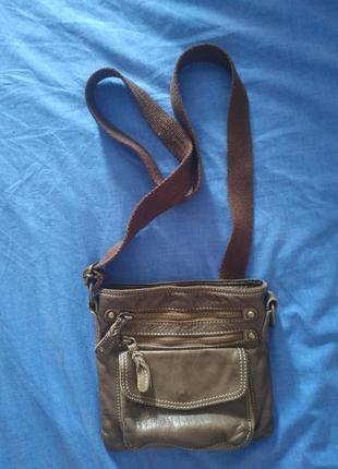 Кожаная сумка, кроссбоди, италия!