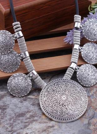 Шикарное ожерелье колье в этническом стиле