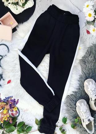 Черные штаны с лампасами h&m