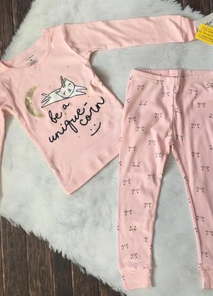 Новая котоновая пижама carter's на 3т.
