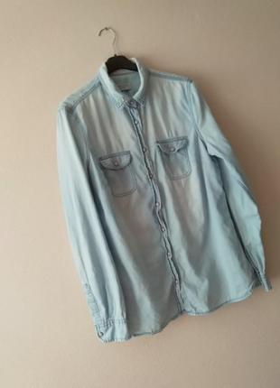 Ддинсовая лёгкая рубашка
