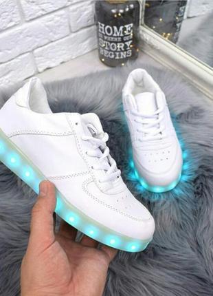 Кроссовки с led подсветкой. кроссовки со светящиеся подошвой