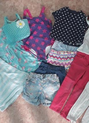 Комплект джинсы купальник шляпка шорты платье футболка