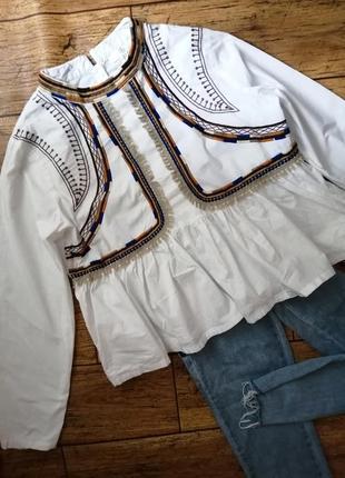 Красивенная рубашка с вышивкой missguided