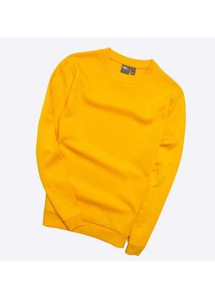 Asos m / новый, яркий жёлто-оранжевый базовый свитшот с начёсом, хлопок