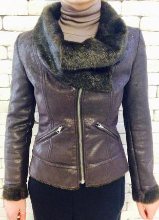 Куртка демисезонная из искусственной кожи miss sixty