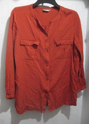 Рубашка vrs fassion оранжевая красная вискоза