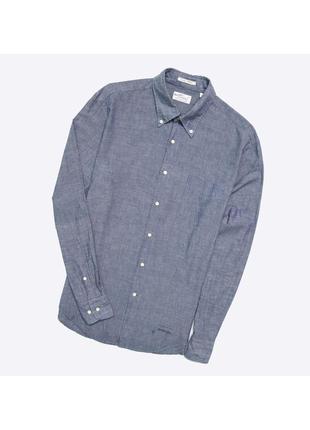 Gant l / лёгкая  рубашка , деним . джинсовая шамбре