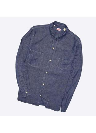 Lvc levis xl / винтажная рубашка шамбре, деним, big e