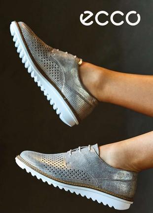 Новые кожаные туфли лоферы ecco touch flatform оригинал 36 р.