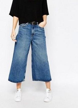 🍿актуальные джинсы кюлоты посадка укороченные хл-ххл