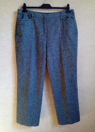 Тёплые брюки из меланжевой шерсти на 52/54 р
