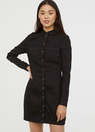Джинсове плаття h&m +size