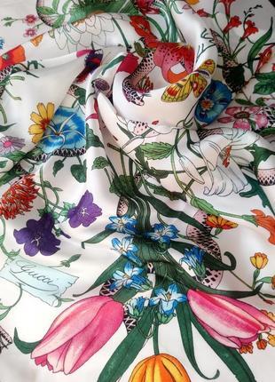 Статусный шелковый платок gucci