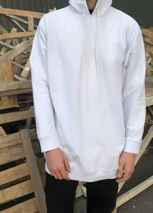 Белое худи oversized