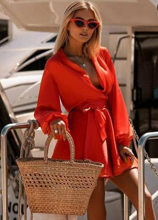 Платье  женское легкое скарлет