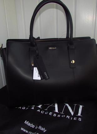Деловая сумка из черной кожи ripani business