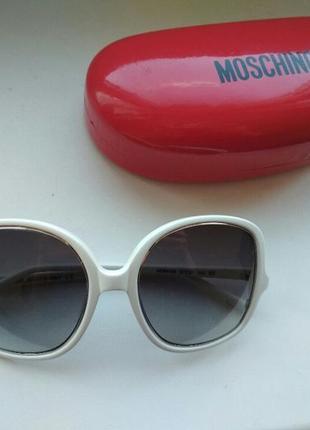 Женские солнцезащитные очки moschino mo 641 03 оригинал белые италия