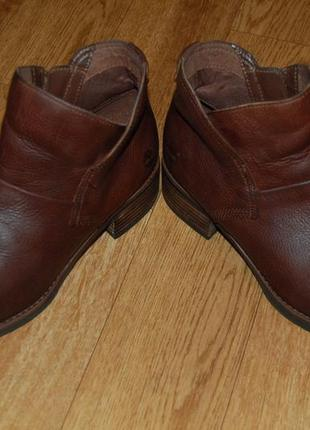Кожаные ботинки 38-38,5 р timberland хорошее состояние