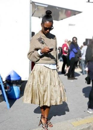 Очень стильная нарядная юбочка из шифон-органзы2 фото