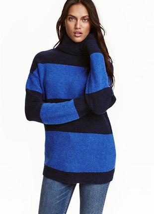 Оригинальный теплый вязаный свитер от бренда h&m разм. s