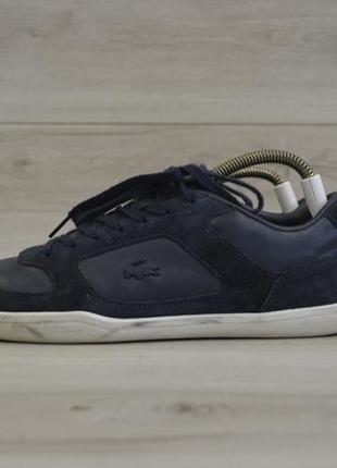 Мужские кожаные кроссовки фирмы lacoste court-minimal