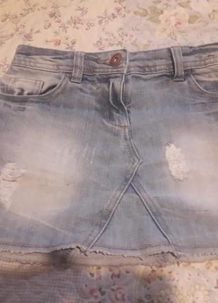 Джинсовая юбка next для девочки 7 лет