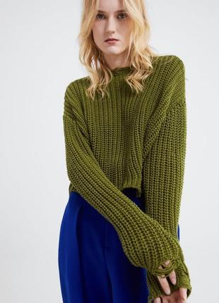 Новый свитер zara с имитированными дырками