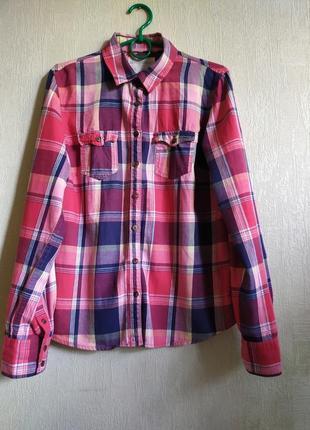 Рубашка в клетку от aeropostale, размер m-l