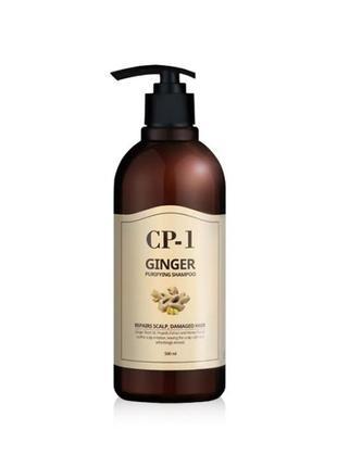 Питательный шампунь с имбирем cp-1  ginger purifying shampoo 500ml esthetic house