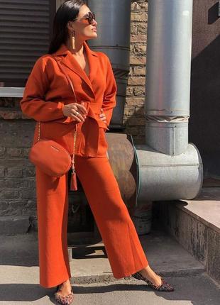 Женский трикотажный костюм брюки+ жакет y.two (италия) размер s-m