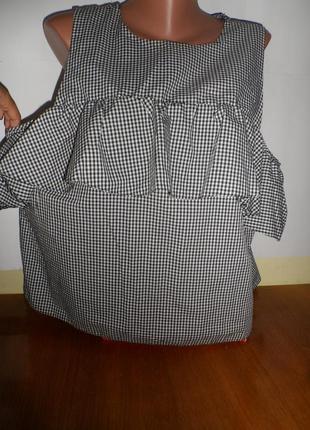 Блуза с открытыми плечами и рюшем фірма ! (atmosphere)