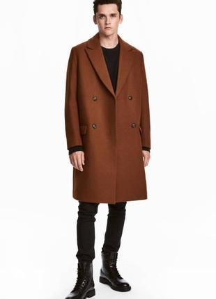 Фирменное роскошное двубортное зимнее шерстяное пальто, шерсть супер качество!!!