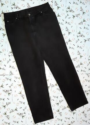 Акция 1+1=3 крутые плотные черные прямые джинсы his оригинал, размер 48 - 50