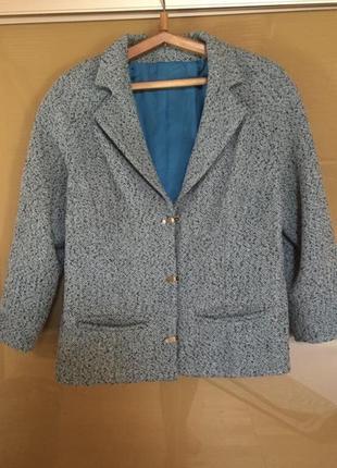 Тёплый жакет пальто пиджак блейзер