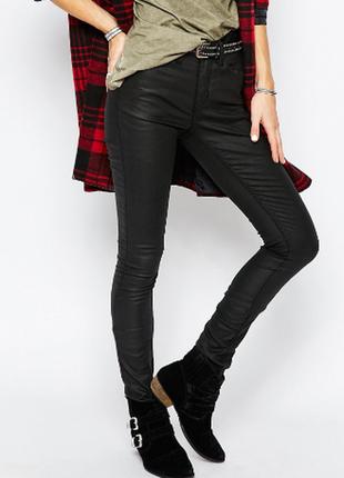 Брендовые брюки под кожу с пропиткой h&m
