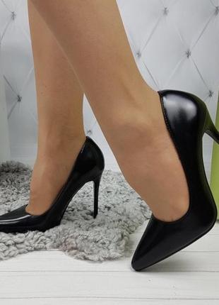 Новые женские черные туфли лодочки