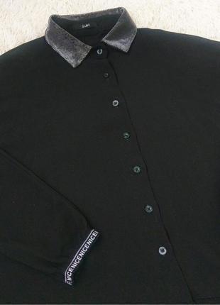 Красивая, чёрная рубашка