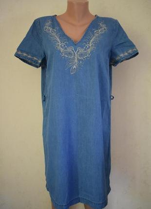 Джинсовое платье с вышивкой george