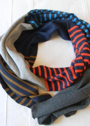 Трендовый полосатый шарф мультиколор