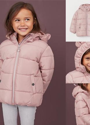 Фирменная демисезонная курточка для девочки h&m, размер 4-5, 7-8, 8-9 лет