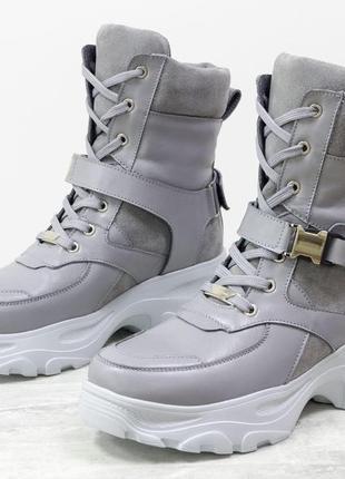 Новинка!натуральные  крутые ботинки осень-зима
