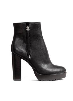 Невероятные ботильоны ботинки ботиночки на высоком каблуке h&m/ размер 38 (25.3 см)