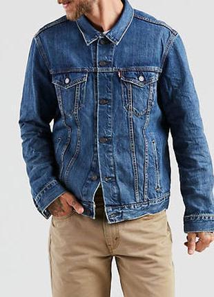 Куртка джинсовая levis trucker jacket the shelf - light wash m