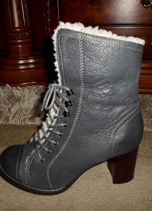 Крутые мягенькие утепленые бренд.ботинки hush puppies,кожа,сша