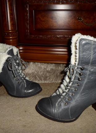 Крутые мягенькие утепленые бренд.ботинки hush puppies,кожа,сша2 фото