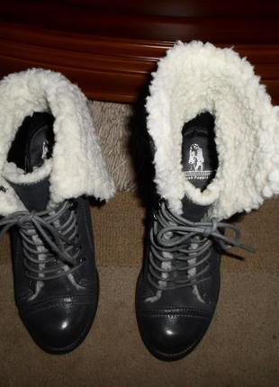 Крутые мягенькие утепленые бренд.ботинки hush puppies,кожа,сша3 фото